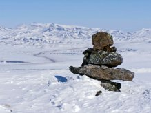 Mountaintop Cairn, Yukon/NWT Border