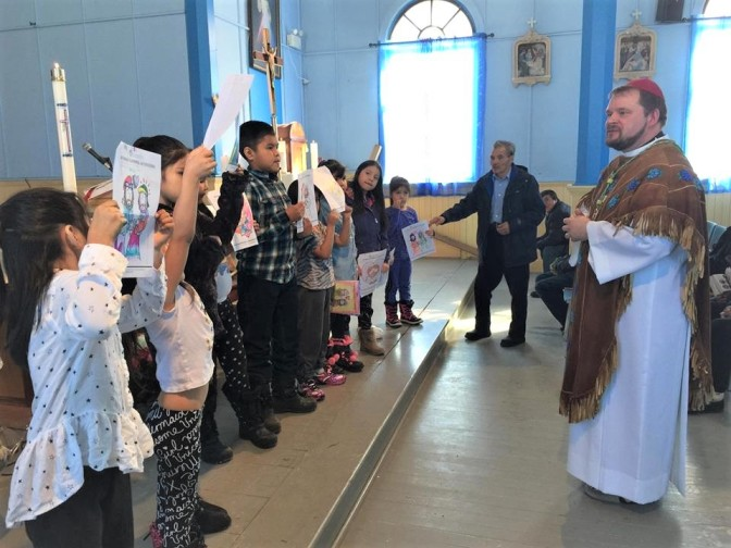 Children at Mass in Behchoko